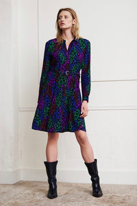 Fabienne Chapot shirt dress.  Hayley dress in leopard print
