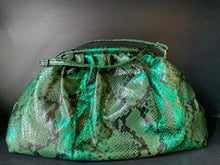 Load image into Gallery viewer, Metallic Snake Bag - Green