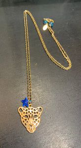 Leopard Necklace Blue Star