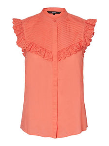 Vero Moda Frill Sleeveless Shirt