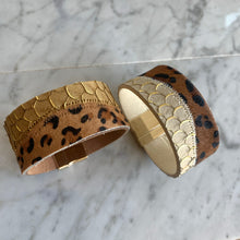Load image into Gallery viewer, Leather Animal Print Cuff