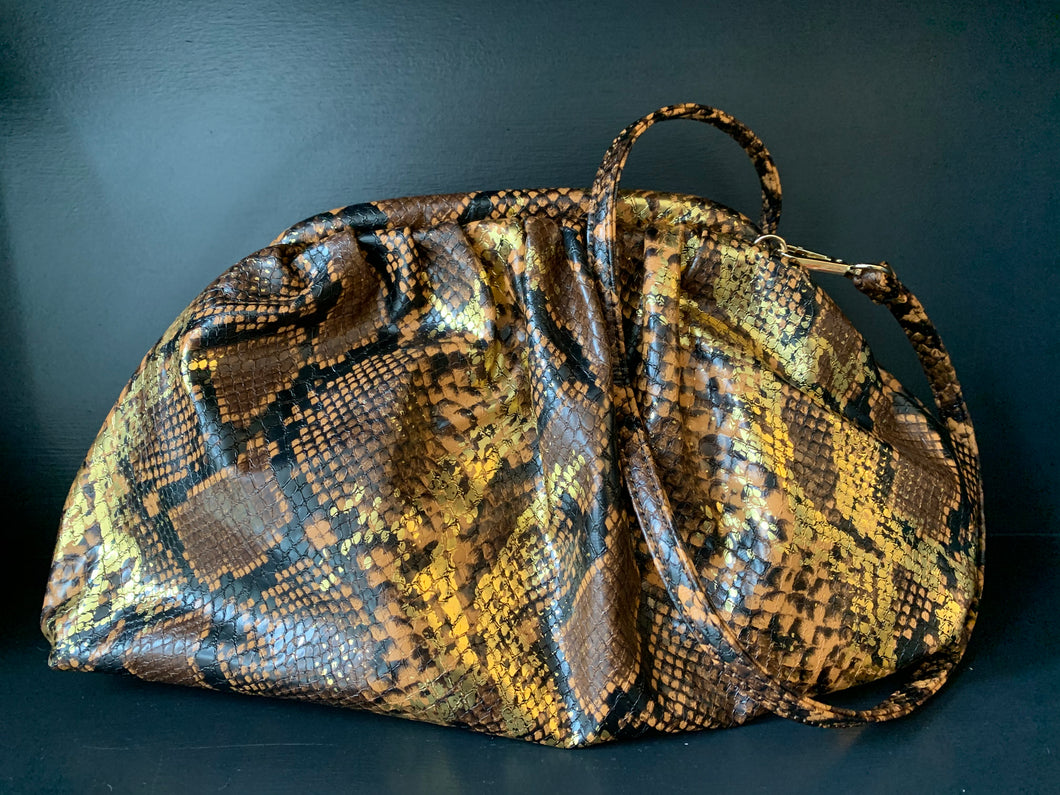 Metallic Snake Bag - Bronze