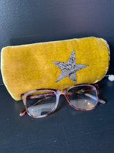 Load image into Gallery viewer, Velvet Glasses Case - mustard
