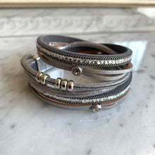 Load image into Gallery viewer, Leather Wrap Bracelet