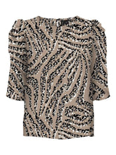 Load image into Gallery viewer, Vero Moda Animal Print Top - Stone