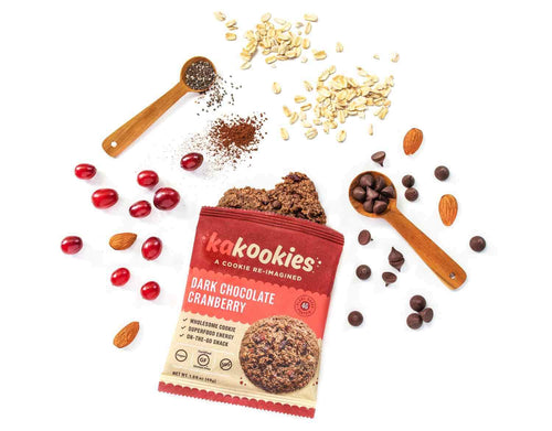 Kakookies Dark Chocolate Cranberry Energy Snack Cookies with superfood ingredients