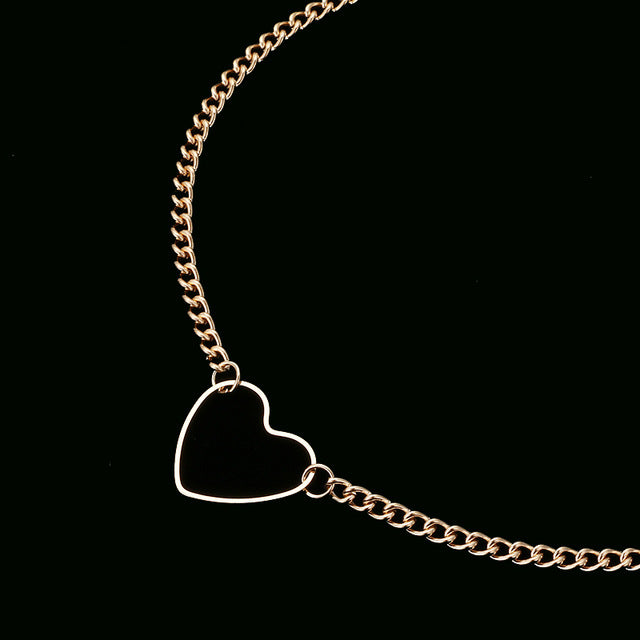 Hollow Heart Choker