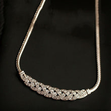 Load image into Gallery viewer, Women's 14K Gold Crystal Chain Necklace