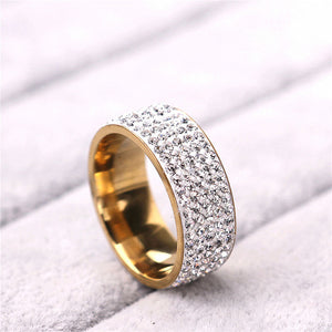 Fully Iced Yellow Gold/White Gold Ring
