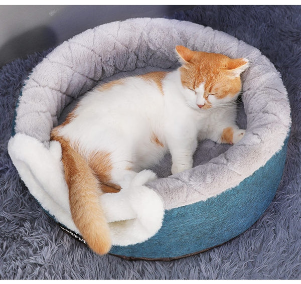 COTTON 2 in 1 Plush Bed - The Meow Lab