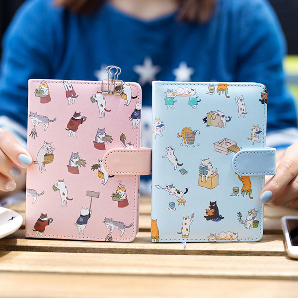 PLAYGROUND Pink Vegan Leather Notebook - The Meow Lab