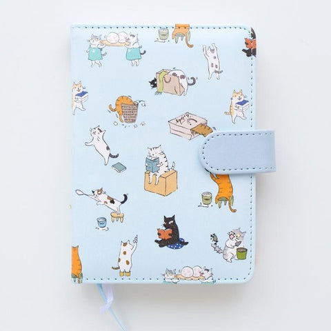 PLAYGROUND Sky Blue Vegan Leather Notebook - The Meow Lab