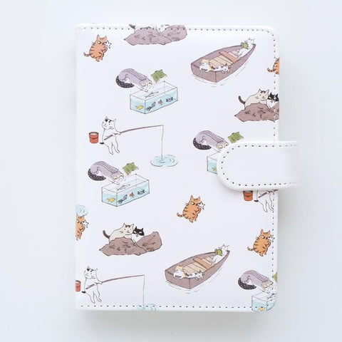 PLAYGROUND White Vegan Leather Notebook - The Meow Lab