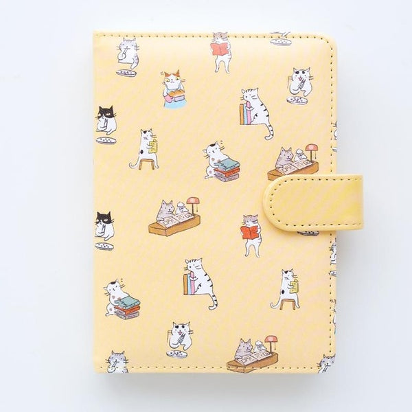 PLAYGROUND Yellow Vegan Leather Notebook - The Meow Lab