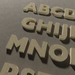 Lettere in legno in carattere GILL SANS