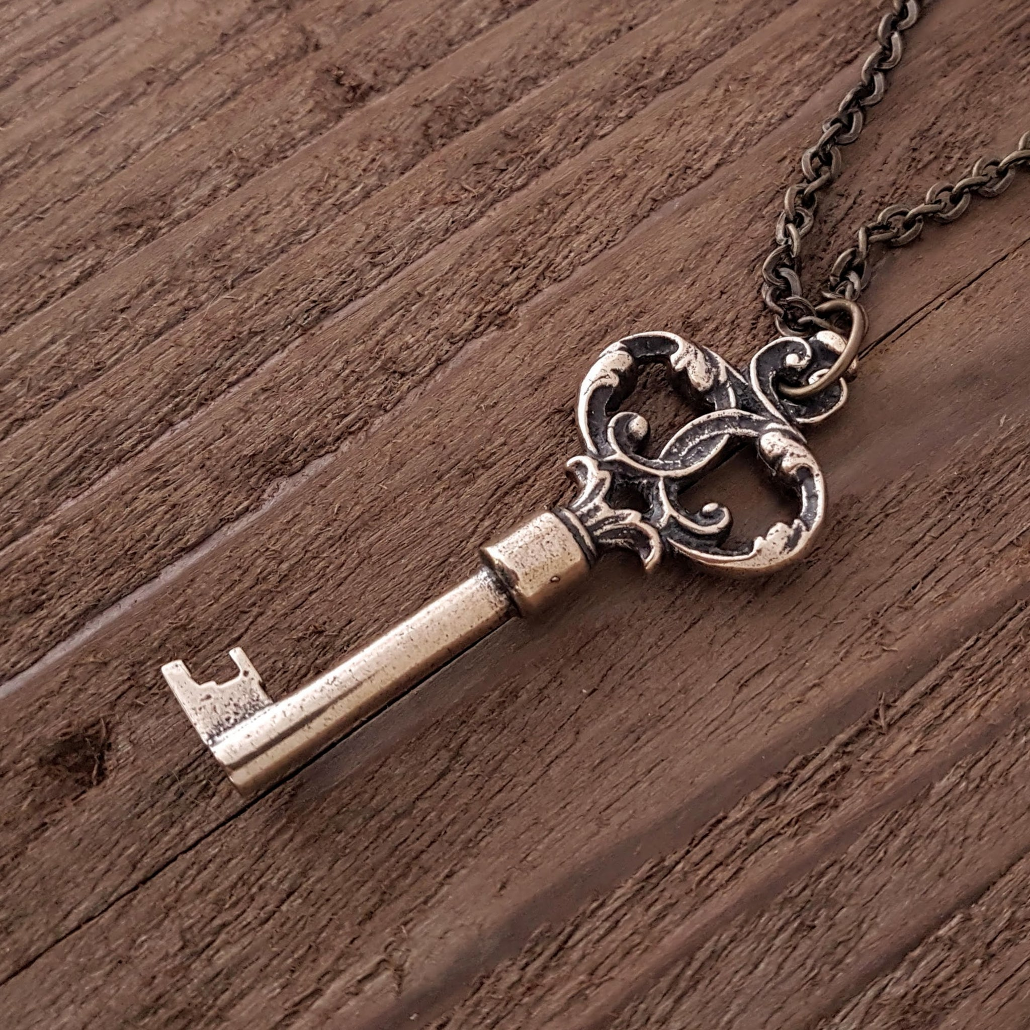 Ornate Victorian Skeleton Key Pendant - Gwen Delicious Jewelry Designs
