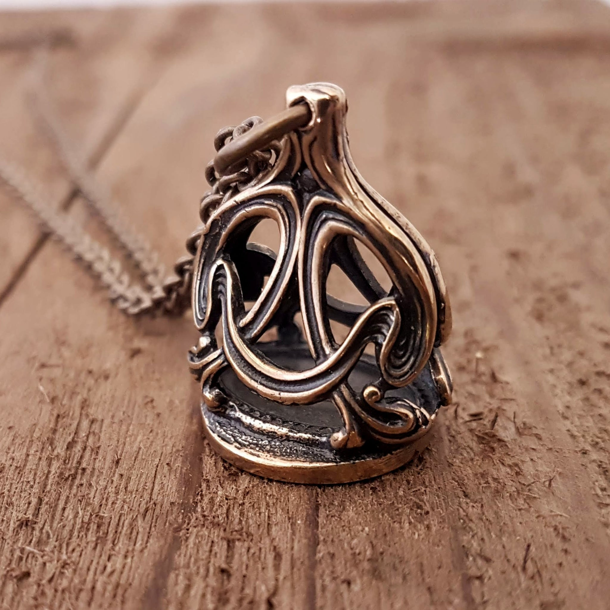 Crown Wax Seal Stamper Necklace - Gwen Delicious Jewelry Designs