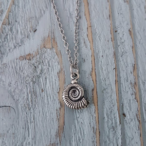 Ammonite Fossil Necklace - Gwen Delicious Jewelry Designs
