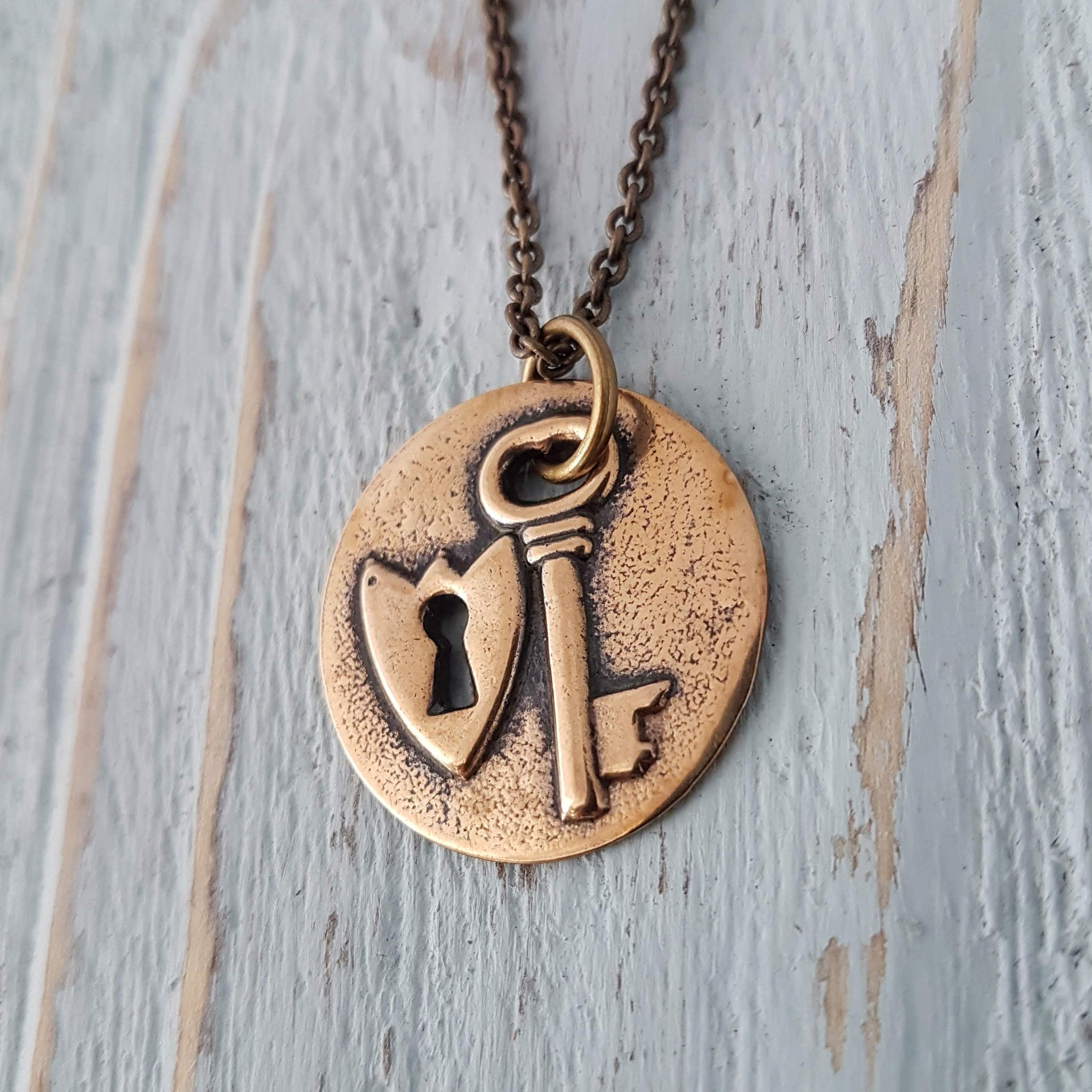 Lock and Key Necklace - Gwen Delicious Jewelry Designs