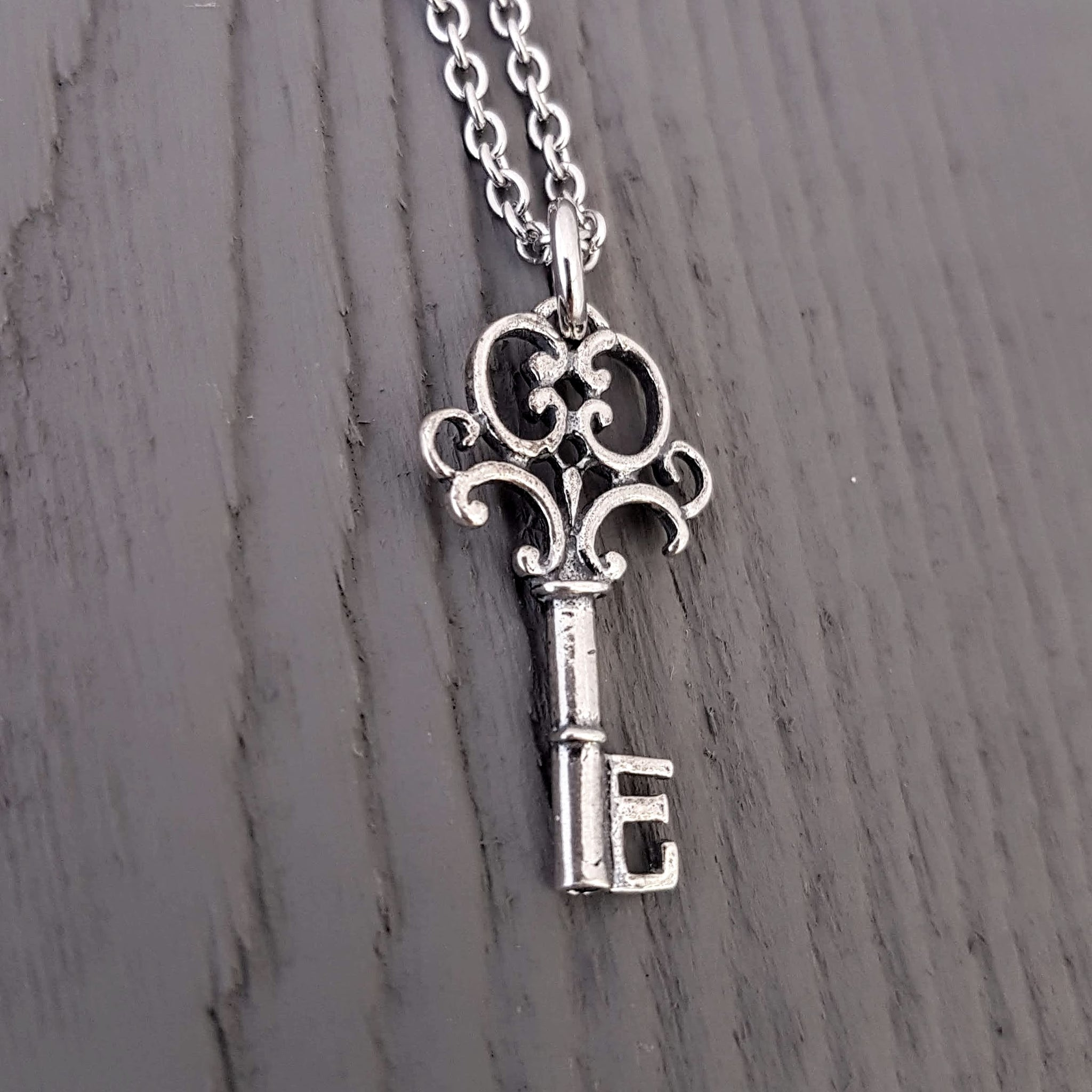 Tiny Skeleton Key Necklace - Gwen Delicious Jewelry Designs