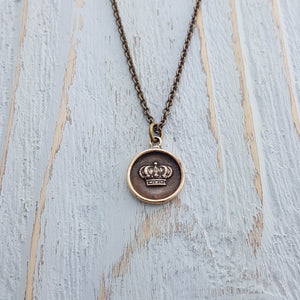 Crown Wax Seal Necklace - Gwen Delicious Jewelry Designs