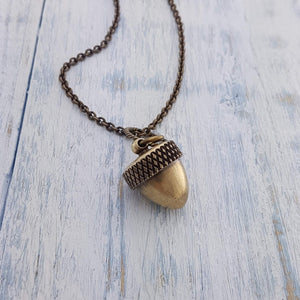 Acorn Canister Locket - Gwen Delicious Jewelry Designs