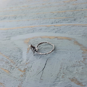 Sparrow and Twig Ring - Gwen Delicious Jewelry Designs