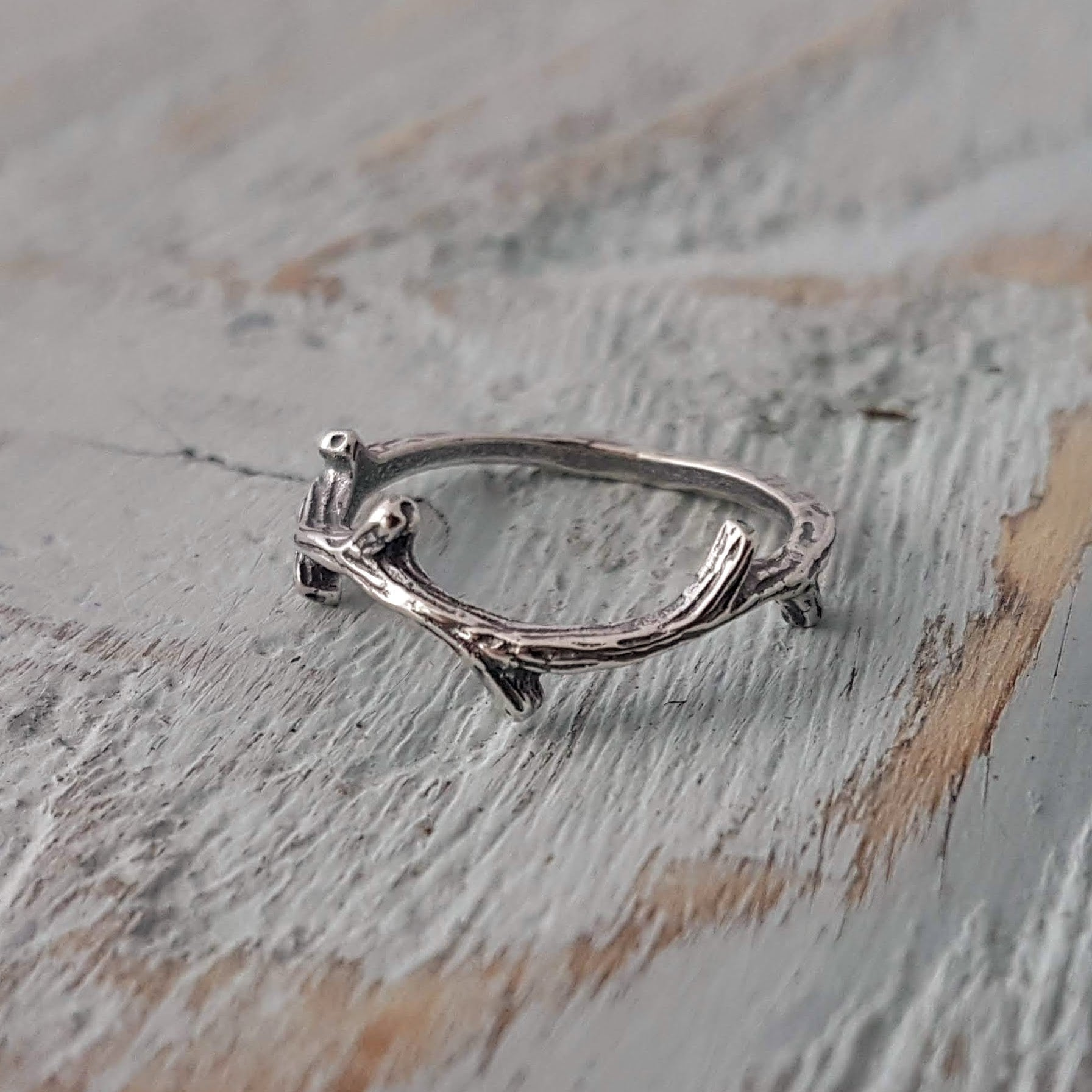 Twig Ring - Branch Ring - Crown of Thorns - Gwen Delicious Jewelry Designs