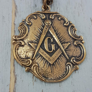 Free Mason Square and Compasses Necklace - Gwen Delicious Jewelry Designs