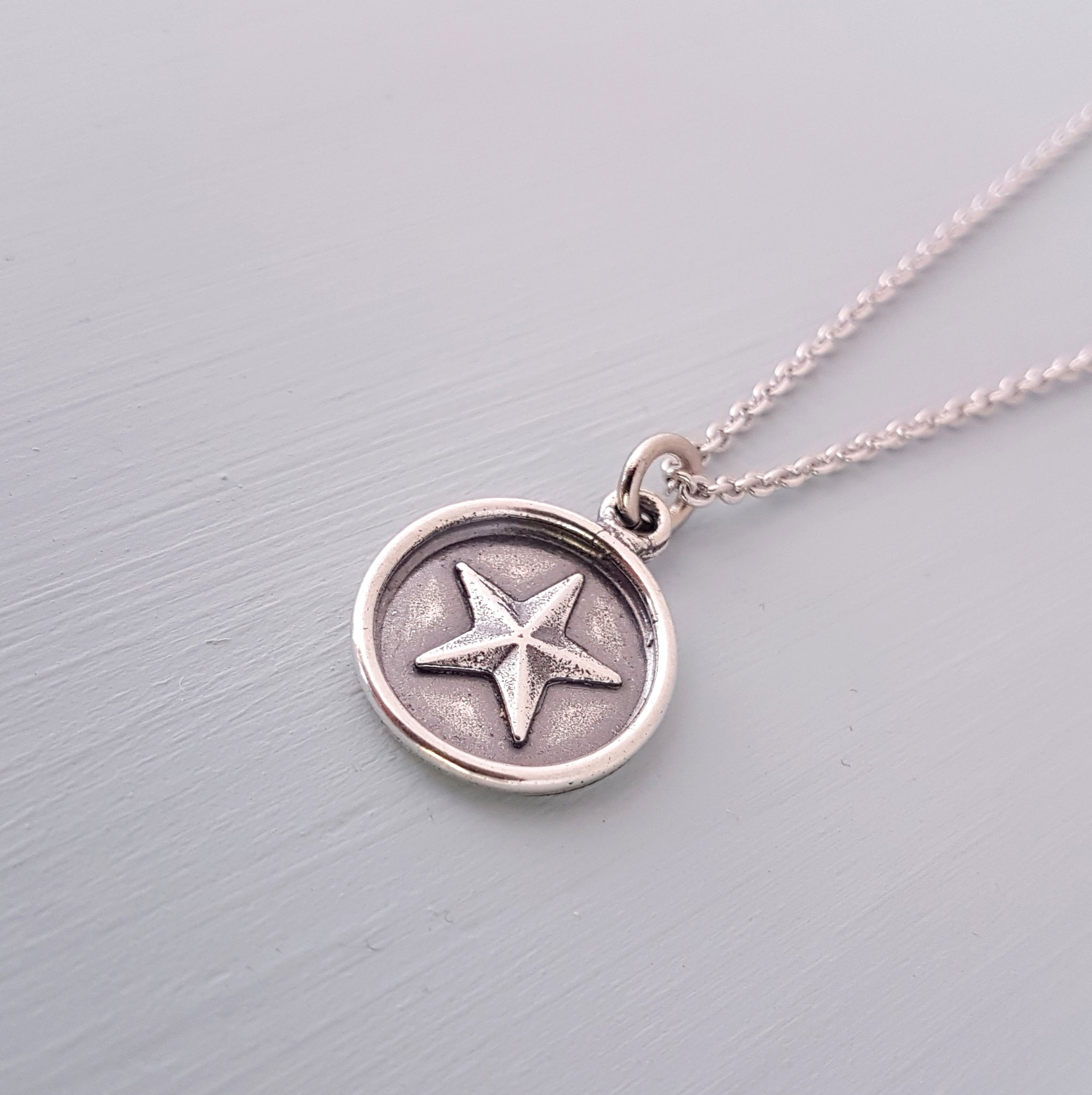 Wax Seal Star Necklace - Gwen Delicious Jewelry Designs