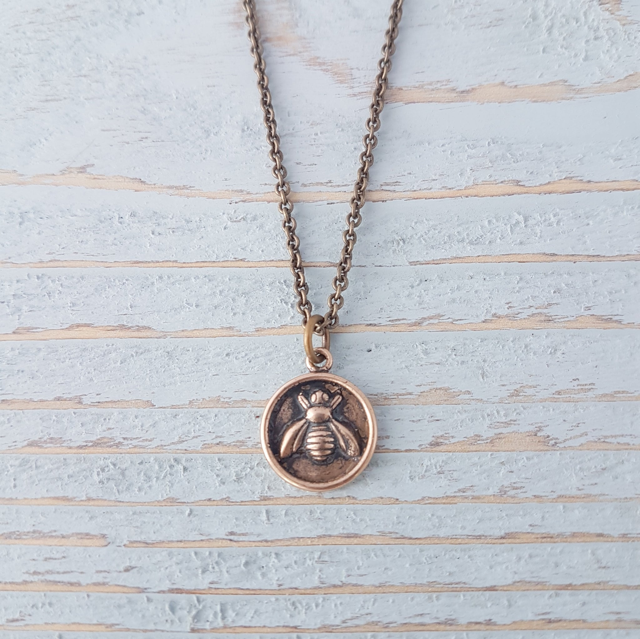 sacred hollowell honey logan beenecklace necklace gold bee front jewelry pendant initial products