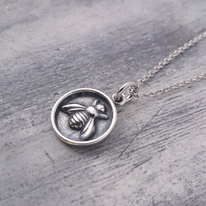 Honey Bee Wax Seal Necklace - Gwen Delicious Jewelry Designs