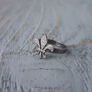 Fleur de Lis Ring - Gwen Delicious Jewelry Designs