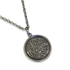 Silver Mother Love Token Necklace