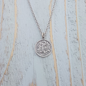 Baby Silver Love Token Necklace - Gwen Delicious Jewelry Designs