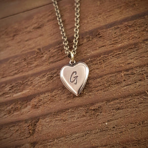 Personalized Heart Necklace - Gwen Delicious Jewelry Designs