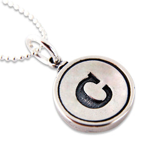 Initial Letter Charm Necklace Personalized Jewelry - Gwen Delicious Jewelry Designs