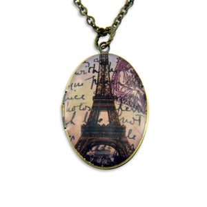 Greetings from Paris Vintage Theme Photo Locket - Gwen Delicious Jewelry Designs