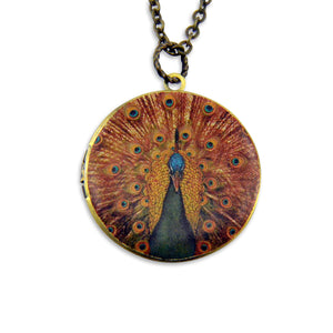 Mrs. Peacock Vintage Theme Photo Locket - Gwen Delicious Jewelry Designs