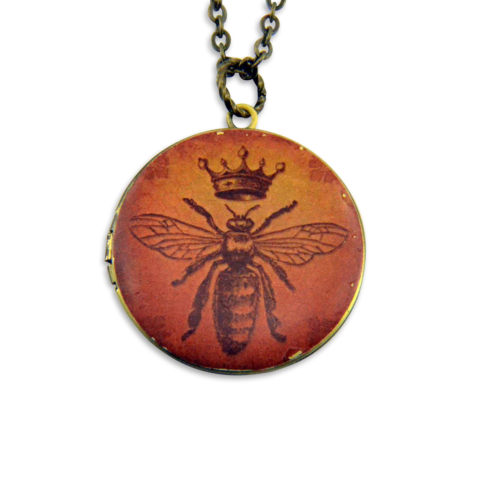 Queen Bee Vintage Theme Photo Locket - Gwen Delicious Jewelry Designs