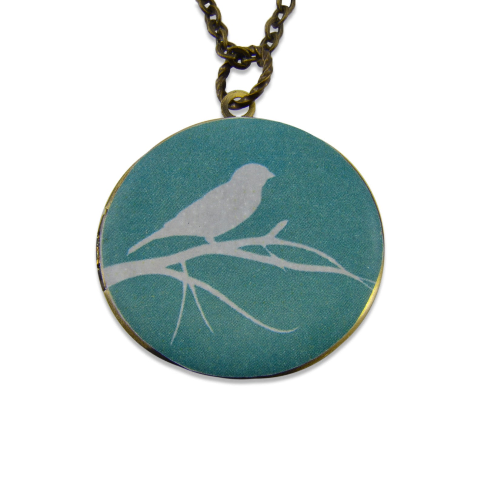 Invisible Bird Vintage Theme Photo Locket - Gwen Delicious Jewelry Designs