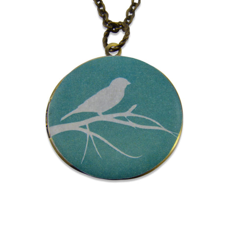Invisible Bird Vintage Theme Photo Locket