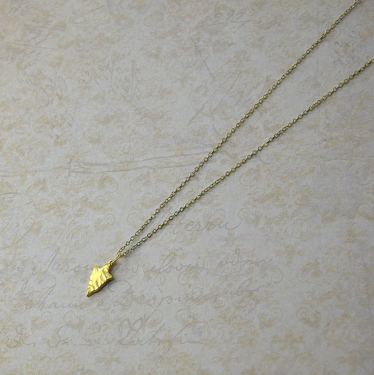 Tiny Arrowhead Necklace - Gwen Delicious Jewelry Designs