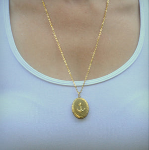 Anchor Locket Necklace - Gwen Delicious Jewelry Designs