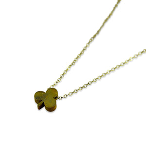 Tiny Lucky Clover Necklace - Gwen Delicious Jewelry Designs