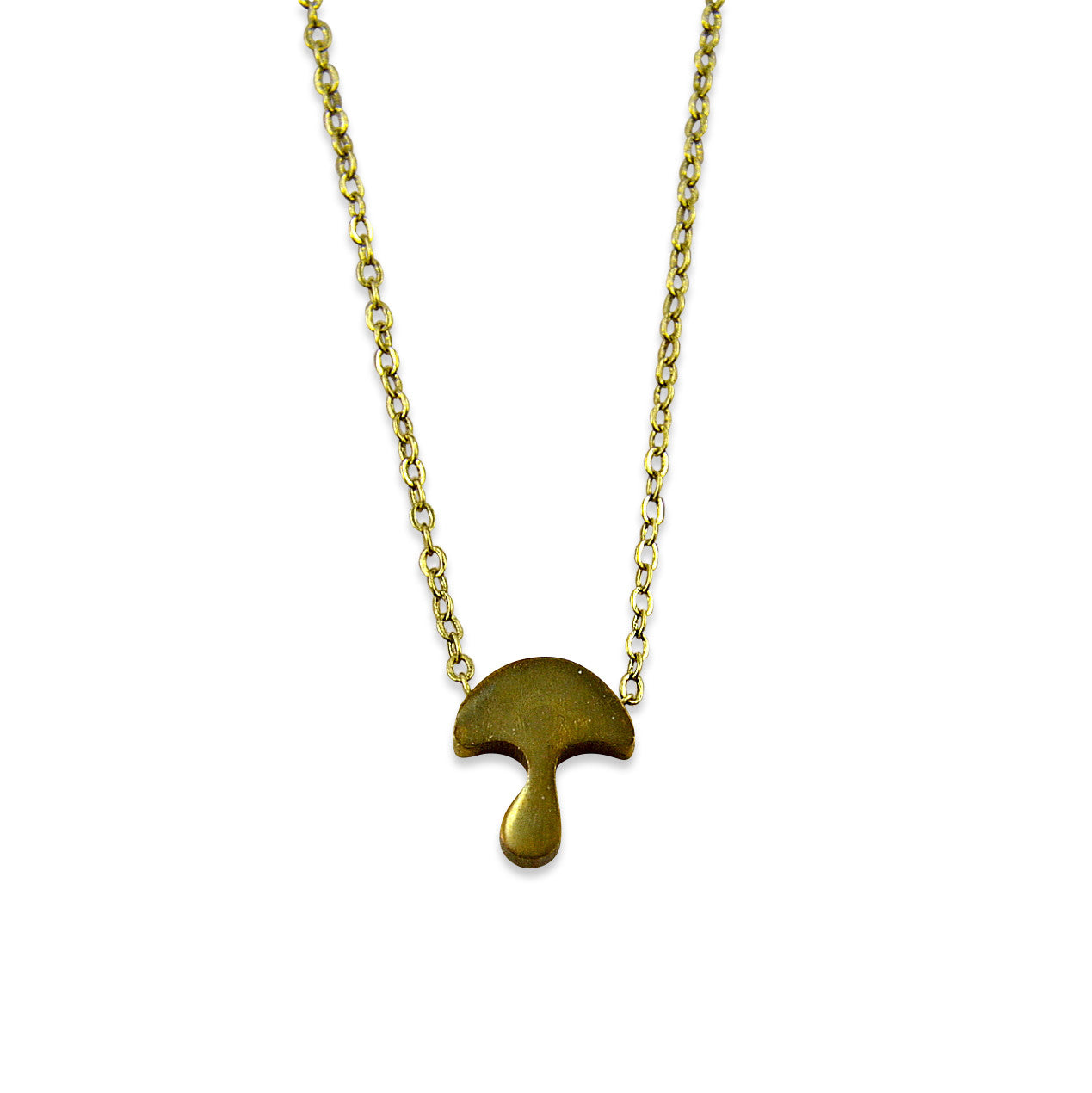 Tiny Mushroom Necklace - Gwen Delicious Jewelry Designs