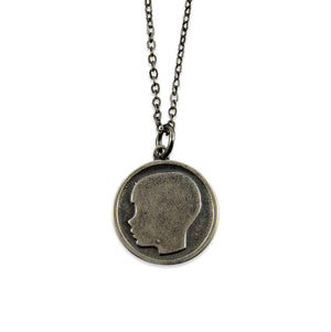 Son or Daughter Silhouette Necklace - Necklace for Mom - Gwen Delicious Jewelry Designs