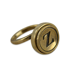 Personalized Letter Ring