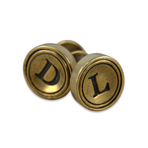 Personalized Initial Letter Cuff Links