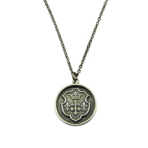 Coat of Arms Wax Seal Necklace